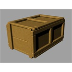 British wood ration boxes