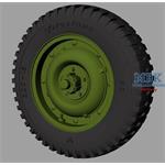 Willys MB Jeep roadwheels (Firestone)