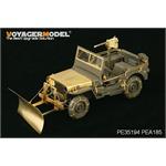 US Jeep Willys Schneepflug und Schneeketten
