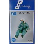 US Navy Pilot, sitzend