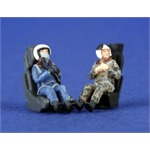2 Russian Pilots (Modern) Seated in A/C