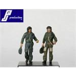 2 RAF Pilots Standing (90')