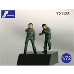 2 F-16/F-18 Pilots Standing/Boarding