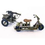 U.S. airborne scooter with machine gun
