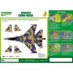 Airbrush CAMO-Mask for1/72 SU Flanker Camouflage 2