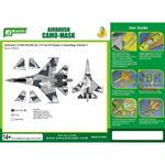 Airbrush CAMO-Mask for1/72 SU Flanker Camouflage 3
