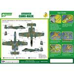 Airbrush CAMO-MASK 1/48 A-10A  Camo Scheme