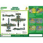 Airbrush CAMO-MASK 1/72 A-10A  Camo Scheme