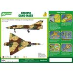 Airbrush CAMO-MASK 1/48 Mirage III C Camo Scheme 1