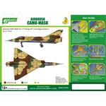 Airbrush CAMO-MASK 1/72 Mirage III C Camo Scheme 1