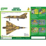 Airbrush CAMO-MASK 1/48 Mirage III C Camo Scheme 2