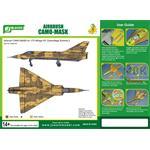 Airbrush CAMO-MASK 1/72 Mirage III C Camo Scheme 2