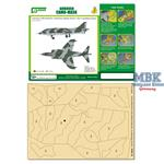 CAMO-MASK 1/48 Hawker Harrier GR.1  Camo Scheme