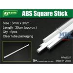 ABS Square Stick 3x3mm, 25 cm Länge Vierkantprofil