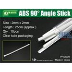 ABS 90° Angle Stick 2x2mm,Winkelprofil 25cm Länge