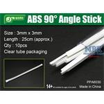 ABS 90° Angle Stick 3x3mm,Winkelprofil 25cm Länge