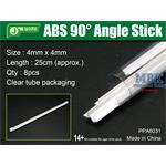 ABS 90° Angle Stick 5x5mm,Winkelprofil 25cm Länge