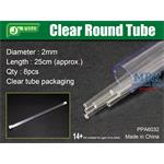 Clear Round Tube Ø 2mm, Klarplastik Hohlprofil