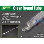 Clear Round Tube Ø 3mm, Klarplastik Hohlprofil
