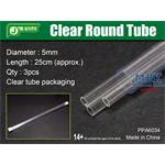 Clear Round Tube Ø 5mm, Klarplastik Hohlprofil