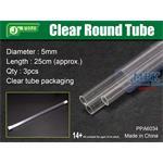 Clear Round Tube Ø 5mm, Klarplastik Hohlprofil