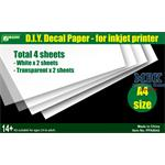 Decal Papier / Paper for inkjet Printer 2 versch