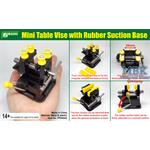 Mini Table Vise w/ rubber suction Base