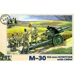 M30 122mm Howitzer with crew