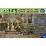 U.S. M1 57mm anti tank Gun early+ 5 Figuren