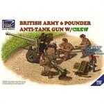 British 6 pounder M2 carriage + 4 Figures