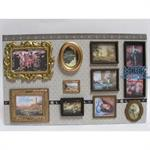 Paintings on real canvas incl. frames