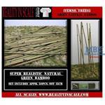 Bamboo set 1, Natural Bamboo, med. green - Bambus