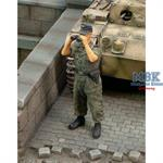 Waffen SS Tanker looking through binoculars