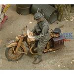 DKW German Motorcycle Rider WW2