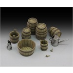 Wine barrels and farm accessories