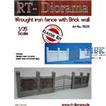Wrought Iron Fence with Brickwall