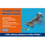 1/35-railway-distance buffer-Puffer; 2er Set