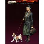 European Refugees, Ältere Frau mit Hund