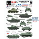 JNA - Jugoslavian tank numbers 1990s