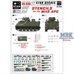 Stencils for the M113 APC