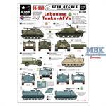 Lebanese Tanks & AFV Markings for SLA,Forces