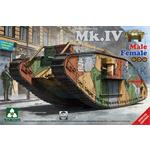 WW I Heavy Battle Tank Mk.IV 2in1 Special Edition