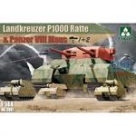 Landkreuzer P1000 Ratte + 2x Panzer  Maus 1:144