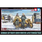 Dt. Figuren Set Luftwaffe Winter + Kettenkrad