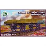Biaxial 20 ton platform wagon