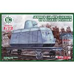 Armor car DTR-casemate on railway platform