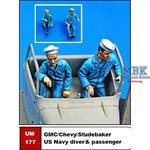 GMC/Chevy/Studebaker US Navy driver & passenger