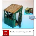 Russian house wood porch