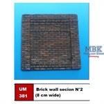 Brick wall secion N°2