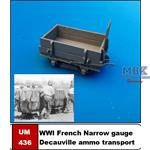 Small WW1 French narrow gauge ammo truck